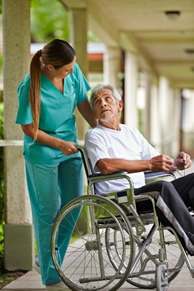 Nursing Home Patient and Nurse